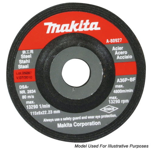 "Makita D-18225 Makita 230mm (9"") Metal Grinding Disc"