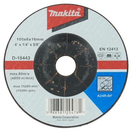 "Makita D-18443 Makita 100mm (4"") Metal Grinding Disc"