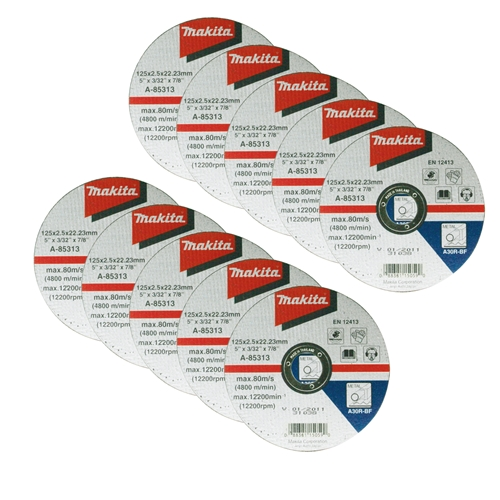 "Makita D-18661PK10 Makita 115mm (4.5"") Metal Cutting Disc Pack of 10"