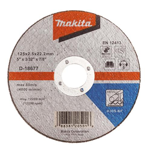 "Makita D-18677 Makita 125mm (5"") Metal Cutting Disc"