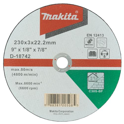 "Makita D-18384 Makita 230mm (9"") Masonry Cutting Disc"