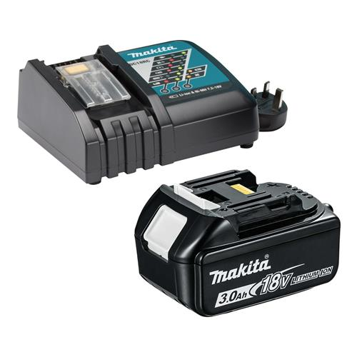 Makita MAKDCBLPK Makita 18v Li-ion Charger PLUS 3.0Ah Battery