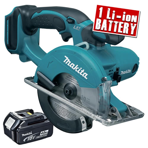 Makita DCS550Z4 Makita 18v Li-ion Metal Cutting Saw Body + 1 x 4.0Ah Battery