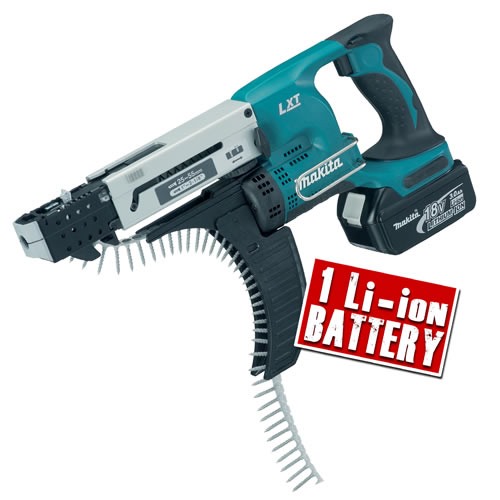 Makita DFR550Z3 Makita 18v Li-ion Autofeed Screwgun Body + 1 x 3.0Ah Battery