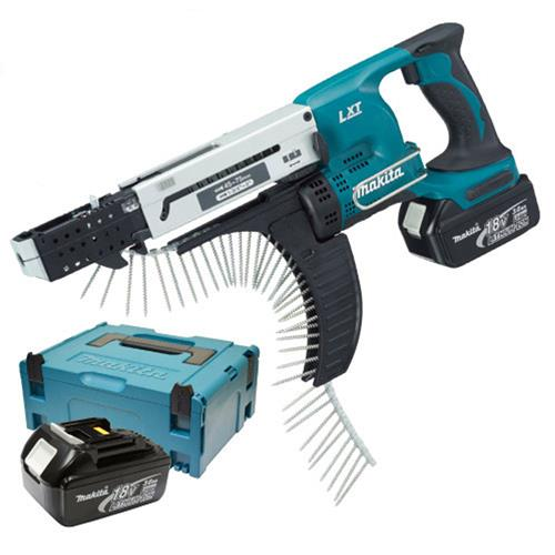 Makita DFR750RME Makita 18v Li-ion Autofeed Screwgun