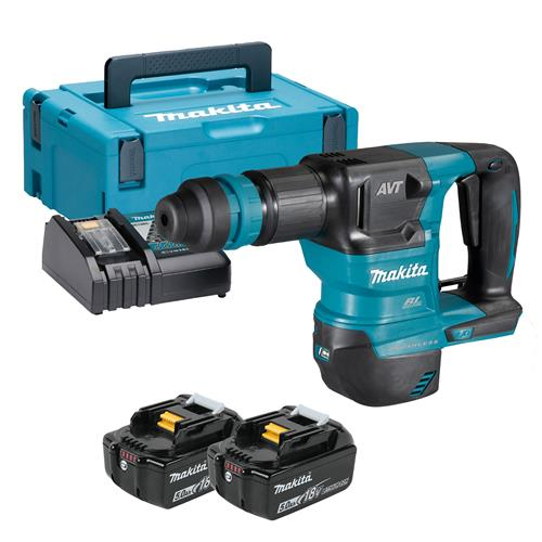 Makita DHK180RTJ 18V LXT Brushless Power Scraper with AVT - with 2x5Ah Batteries, Charger and Carry Case