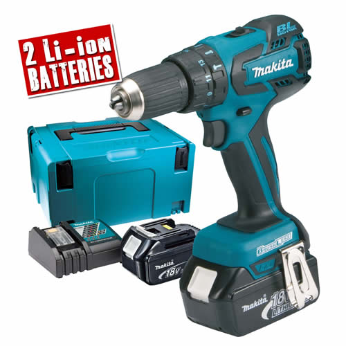 Makita DHP459RTJ Makita 18v Brushless Hammer Drill Driver