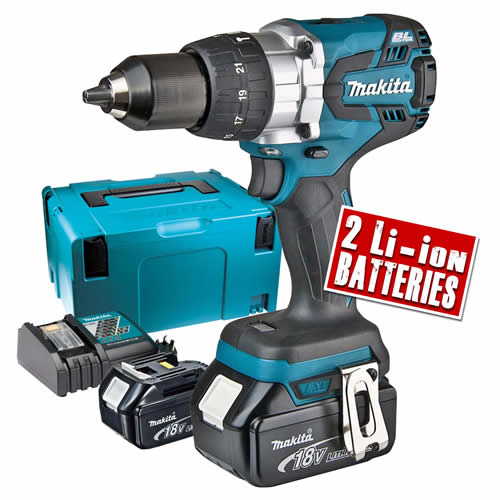 Makita DHP481RMJ Makita 18v Li-ion Brushless Hammer Drill Driver