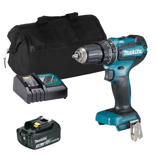 Makita DHP485 18V LXT Brushless Combi Drill, 1x 3Ah Battery, Charger and Bag