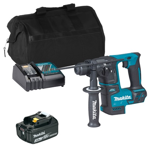 Makita DHR171ITS 18V LXT Brushless SDS+ Drill with 1 x 3Ah Battery, Charger and Bag