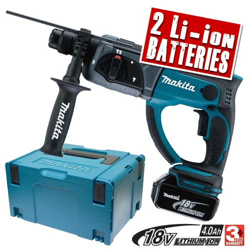 Makita DHR202RME Makita 18v Li-Ion SDS+ Hammer Drill