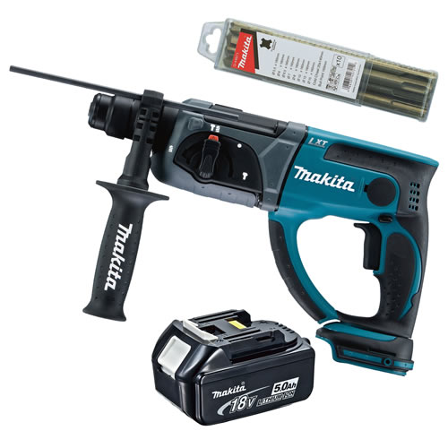 Makita DHR202Z5 Makita 18v Li-ion SDS+ Drill Body + 1 x 5.0Ah Battery