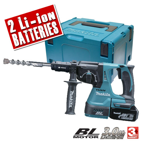 Makita DHR243RFE Makita 18v Li-ion Brushless SDS+ Hammer Drill with Quick Chuck