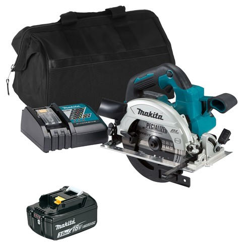 Makita DHS660ITS 18v LXT Brushless 165mm Circular Saw with 1 x 3Ah Battery, Charger and Bag