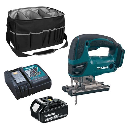 Makita DJV180CB 18v LXT Jigsaw with 1 x 3Ah Battery, Charger and Bag