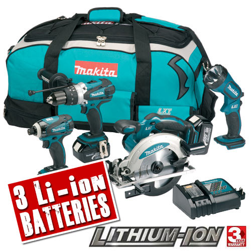 Makita DK18034 Makita 18v Lithium-ion LXT Cordless 4 Piece Kit