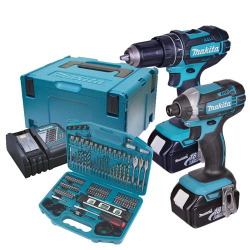 Makita DLX2131KIT 18v LXT 2 Piece Kit with 2 x 3Ah Batteries, Charger, Case and Accessory Kit