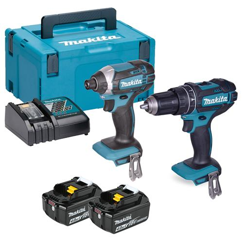 Makita DLX2131MJ 18v LXT 2 Piece Kit with 2 x 4Ah Batteries, Charger and Case