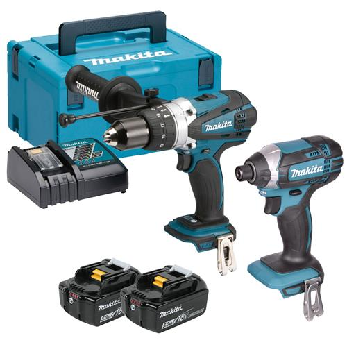 Makita DLX2145TJ 18v LXT 2 Piece Kit with 2 x 5Ah Batteries, Charger and Case