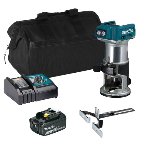 Makita DRT50ITS 18v LXT Router with 1 x 3Ah Battery, Charger and Bag
