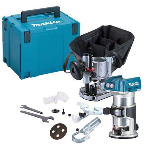 Makita DRT50KIT 18v Li-ion Cordless Brushless Router/Trimmer Kit