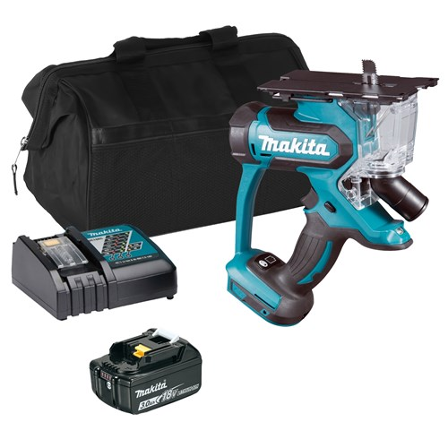 Makita DSD180Z 18v LXT Drywall Cutter with 1 x 3Ah Battery, Charger and Bag