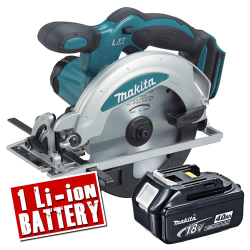 Makita DSS610-Z4 Makita 18v Li-ion Circular Saw 165mm Body + 1 x 4.0Ah Batteries