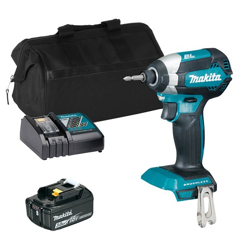 Makita DTD153 18V Brushless Impact Driver with 1x 3Ah Battery, Charger and Bag