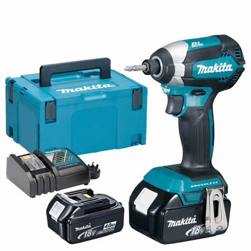 Makita DTD153RMJ Makita 18v Li-ion 4.0Ah Cordless Brushless Impact Driver