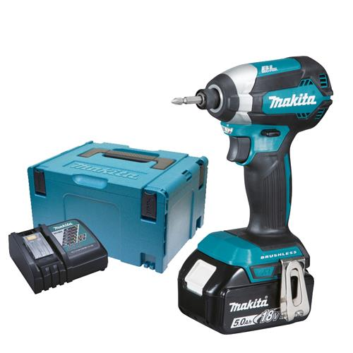 Makita DTD153RTJX Makita 18v Li-ion 5.0Ah Cordless Brushless Impact Driver
