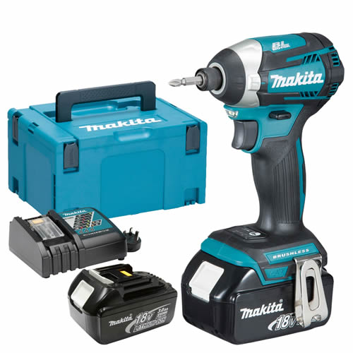 Makita DTD154RJ Makita 18v Li-ion 3.0Ah Cordless Brushless Impact Driver