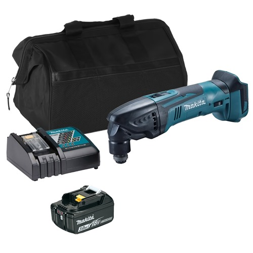 Makita DTM50ITS 18v LXT Multi-Tool with 1 x 3Ah Battery, Charger and Bag