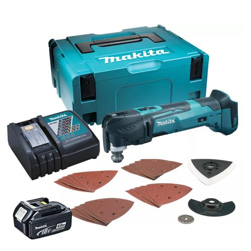 Makita DTM51CB 18v LXT Multi-Tool with 1 x 4Ah Battery. Charger and Case