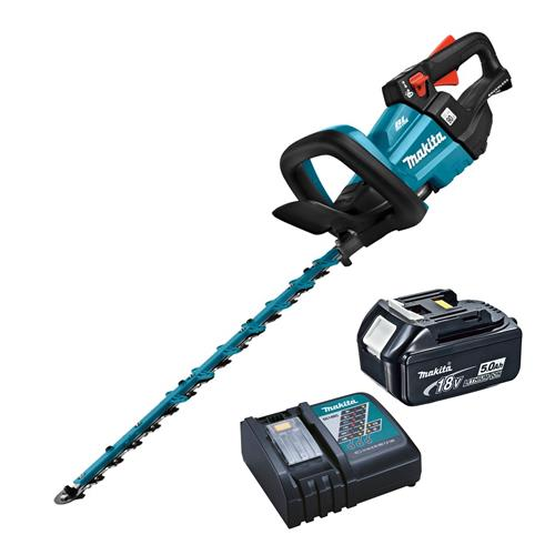 Makita DUH502RT 18v LXT Brushless Hedge Trimmer with 1 x 5Ah Battery and Charger