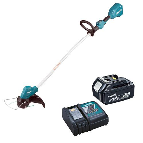 Makita DUR189RT 18V LXT Brushless Line Timmer with 1 x 5Ah Battery and Charger