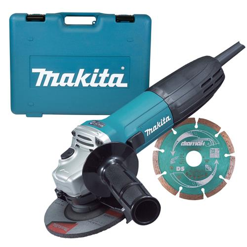 Makita GA4530RKD Makita 115mm Slim Angle Grinder Kit