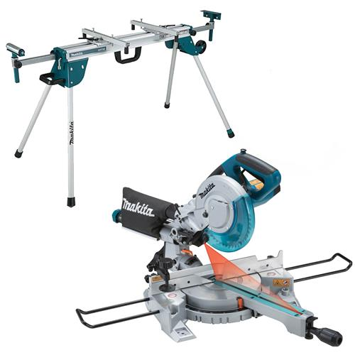 Makita LS0815FLWST Makita 216mm Slide Compound Mitre Saw and Mitre Saw Stand