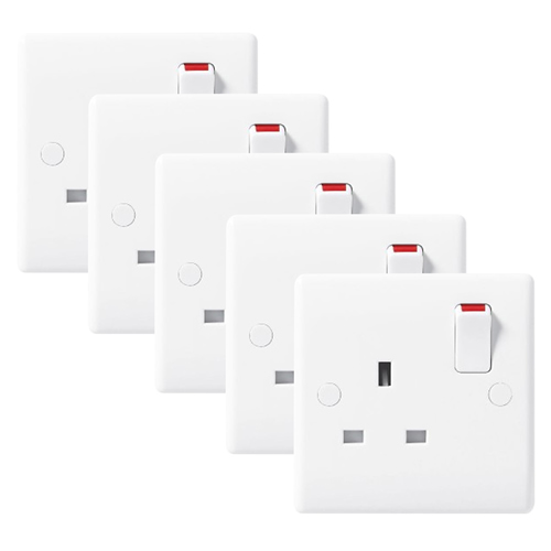 BG 811PK5 10AX Plate Switch 1 Gang 1 Way - Pack of 5