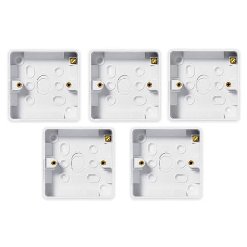 BG 2 Gang Rectangular Surface Box 32mm - Pack of 5