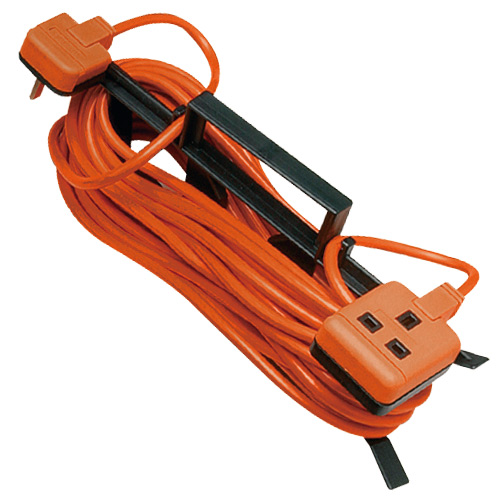 Masterplug CT1513 Outdoor Power Orange 1 Gang Extension Lead on Cable Tidy 15m