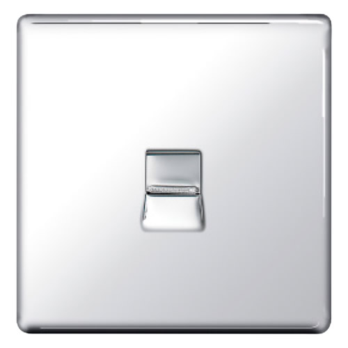 BG FPCBTS1-01 Chrome 1 Gang Secondary Telephone Socket