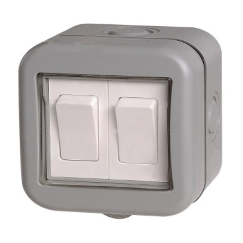 BG WPB42-01 Weatherproof IP55 10A 2 Gang Switch