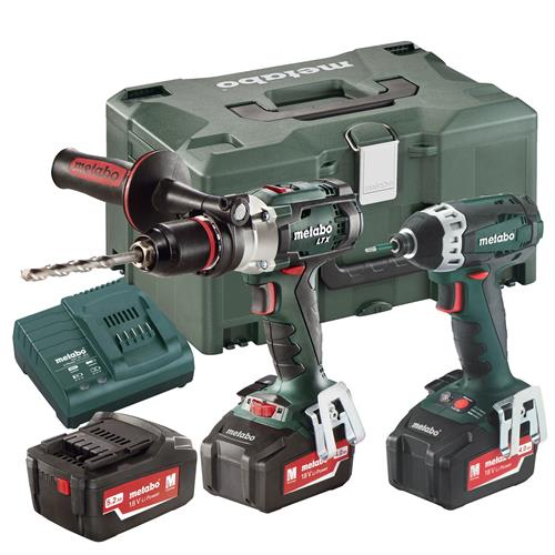 Metabo COMBOSET 2.1.6.3 Metabo 18v Heavy Duty Li-ion 2 Piece Kit