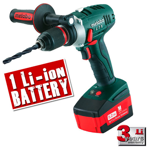 Metabo SB18LTX152 Metabo 18v Combi Drill (1 x 5.2Ah Battery)