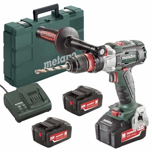 Metabo 602353650 Metabo 18v Li-ion 5.2Ah Brushless Combi Drill