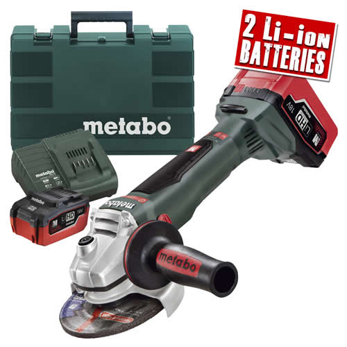 Metabo WB 18 LTX BL Metabo 18v LiHD 125mm Brushless Grinder