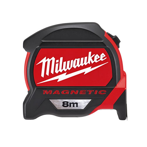 Milwaukee 48227308 Milwaukee GEN2 8m Magnetic Tape Measure (Metric Only)