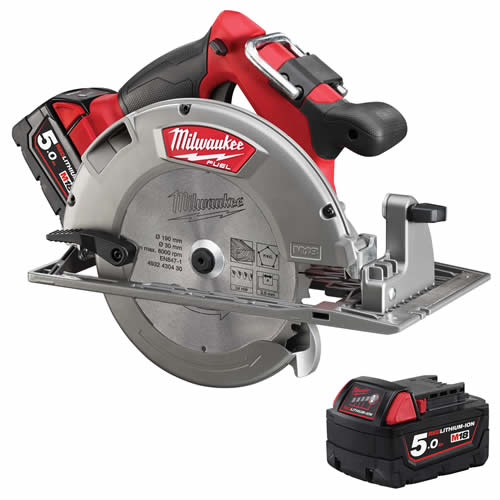 Milwaukee 4933451385 Milwaukee 18v Fuel Brushless 190mm Circular Saw 5.0Ah