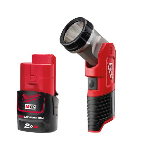 Milwaukee M12 B2PK 12v M12 Torch and 2Ah Battery Pack