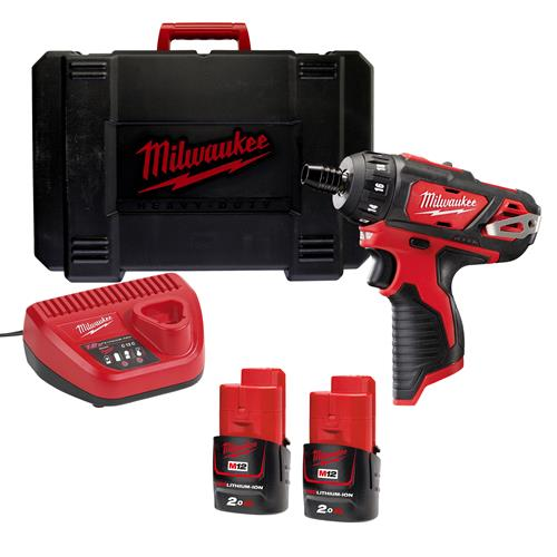 Milwaukee M12BD-202C 12v M12 Drill Driver with 2 x 2Ah Batteries, Charger and Case